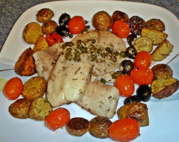 Baked Tilapia with Tomatoes & Potatoes Recipe