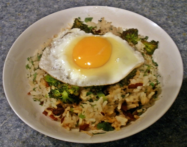 Bacon and Broccoli Rice Bowls recipe