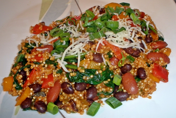 Quinoa and Bean Pilaf recipe