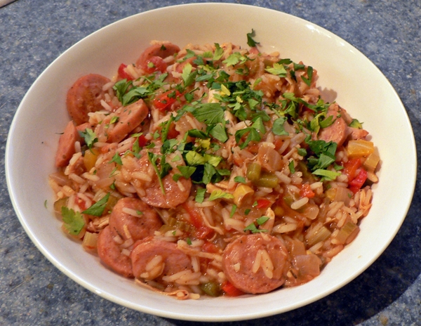 Chicken and Sausage Jambalaya - simple-food-solutions.com