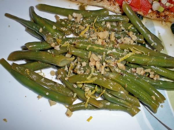 Lemon & Walnut Green Beans recipe