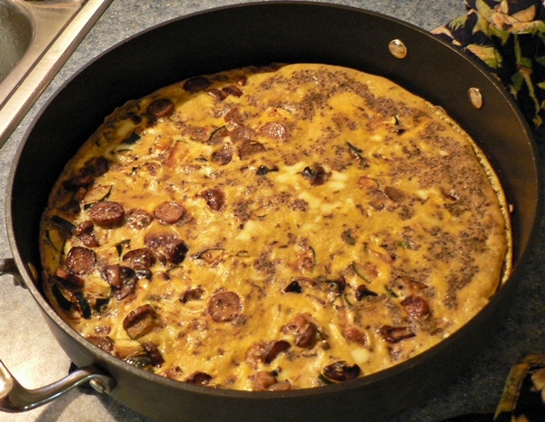 Sausage and Zucchini Frittata recipe