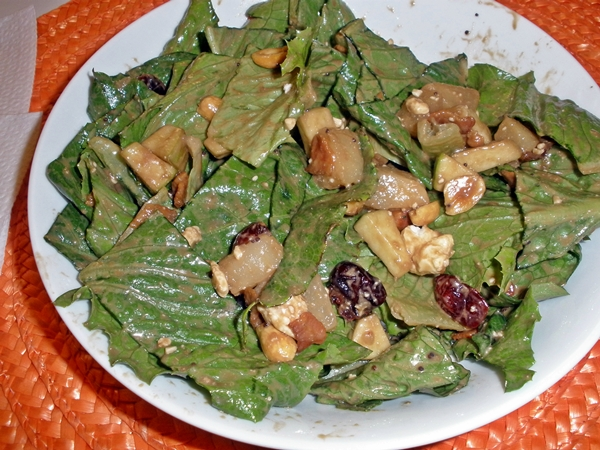 Fall Time Fruit and Lettus Chopped Salad recipe